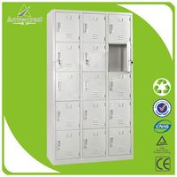 Multi-function 15 doors ventilated steel electronic locker
