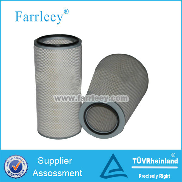 Conical & cylindrical cartridge filter for gas turbine machine