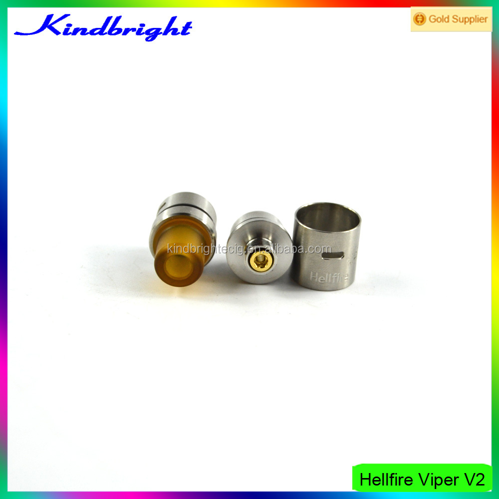 Hellfire Viper V2 RDA 14mm 316 stainless steel in stock from kindbright cheap price wholesale in Italy