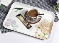 Coffee shop use custom design high-gread coffee tray , hotel serving melamine tray