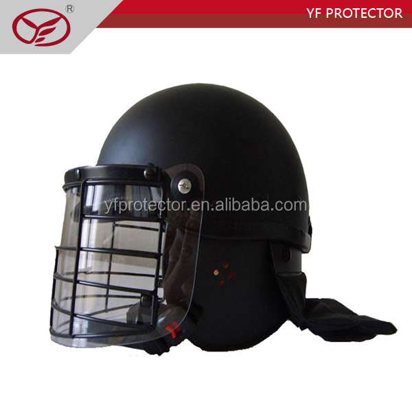 High Quality Police Dark Blue Anti Riot Military Helmet for Sale