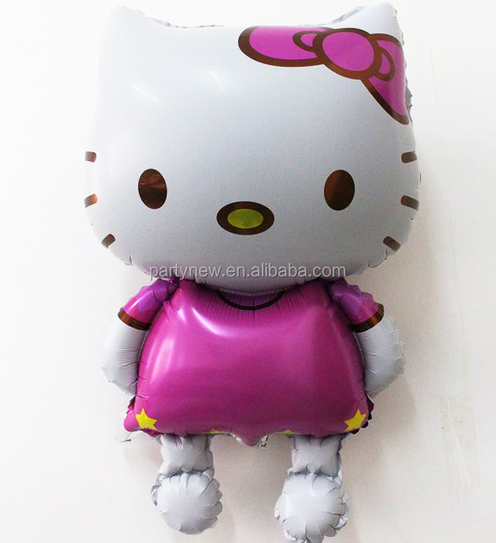High Quality 48*80cm Hello Kitty Helium Foil Balloon;Children Birthday Gift and Party Decoration balloon