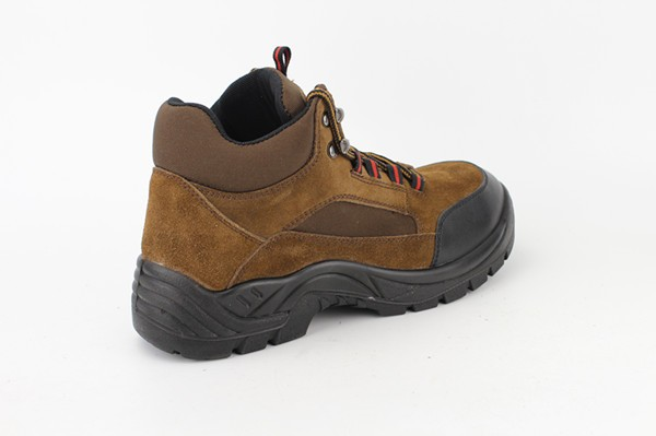 Executive Mens Brown Suede Leather Work Safety Shoes