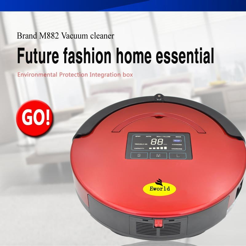 LED Display Smart Robot Vacuum Cleaner for Christmas Gift