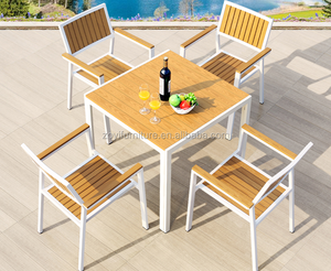 Outdoor table set polywood 4 chairs living furniture dining set with high quality