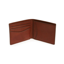 Classical edges painted wallet leather bifold men wallet Human leather wallet