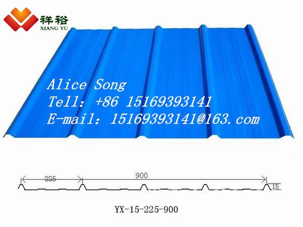 Corrugated galvanized steel sheet, Z60 to 275g/