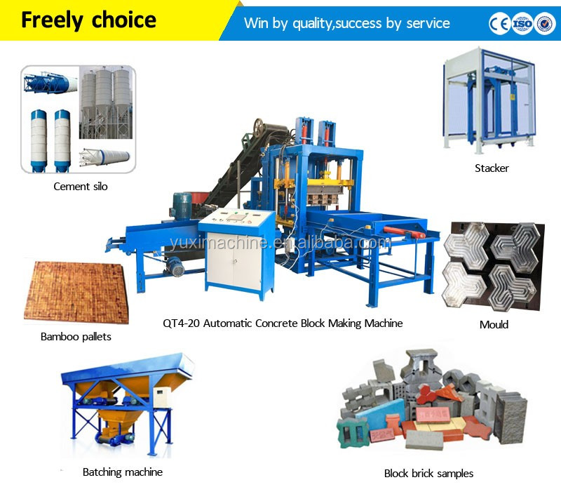 Price list of cement widely used concrete block making machine for sale in usa/Paver Block