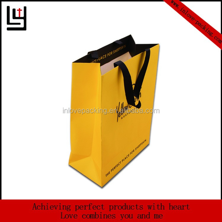 Fresh Handmade Brand Logo Paper Shopping Bags With Handle