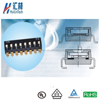 Gold plated contacts SMD 10 pin piano dip switch 2.54mm pitch
