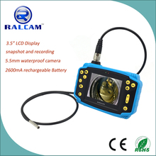 "3.5"" TTF LCD display 4*Zoom 300000 pixels 5.5mm flexible tube camera industrial endoscope"