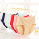 Plus size seamless women underwear One-piece ice silk High-waist panties