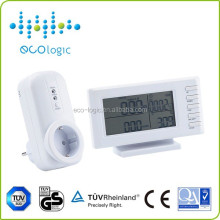 single phase large LCD screen smart digital AC power meter socket