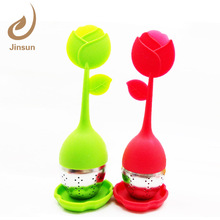 FJ-59 food grade Silicone Flower Shaped Tea Infuser tea making tools