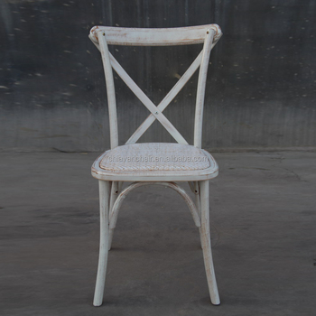 Trade Assurance Limewash Color Classical Antique Hotel Wood Cross Back Wedding Chair