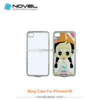 New style Bling Sublimation Phone Case for iPhone4/4S