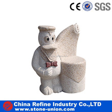 Factory customized animals granite stone bench for garden