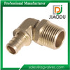 "1/2"" or 1"" or 11/2"" or 11/4"" or 2 "" 90 degree Brass Male Elbow Fitting For Pex Pipe Copper Crimp Elbow"