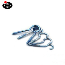 Customized Silver Color Zinc Plated Metal Cup Hooks Self-tapping Screw Hook