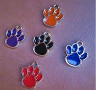 D467 wholesale paw print charms