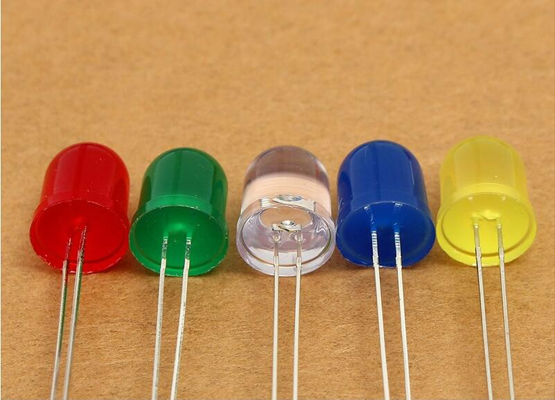 High power led lamp 5mm UltraBright Red/Green/Blue/White/Yellow Ultra Bright 5mm Round LED Diode F5 Led light bulbs