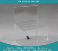 China supplier acrylic donation box with sign holder