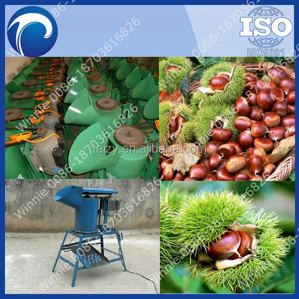 Commercial Chestnut Thorn Shell Peeler/peeling machine/chestnut thorn shell removing machine/0086-18703616826