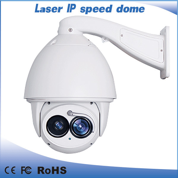 2 Megapixel HD Laser PTZ IP Camera Auto Tracking High Speed Dome Camera