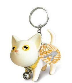 Kitty Cat Doll Key Chain White Black Yellow And Multicolour Pussy Key Chain Ring Kitty Kitten Model Chaveiro Keychain Kitty Cat