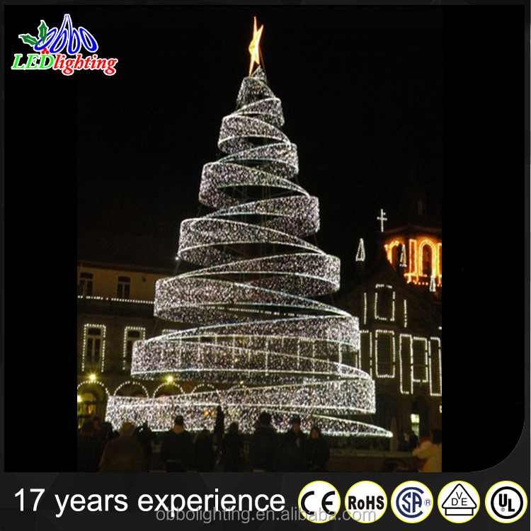 led spiral tree white outdoor lighted christmas cone trees giant christmas tree with top star