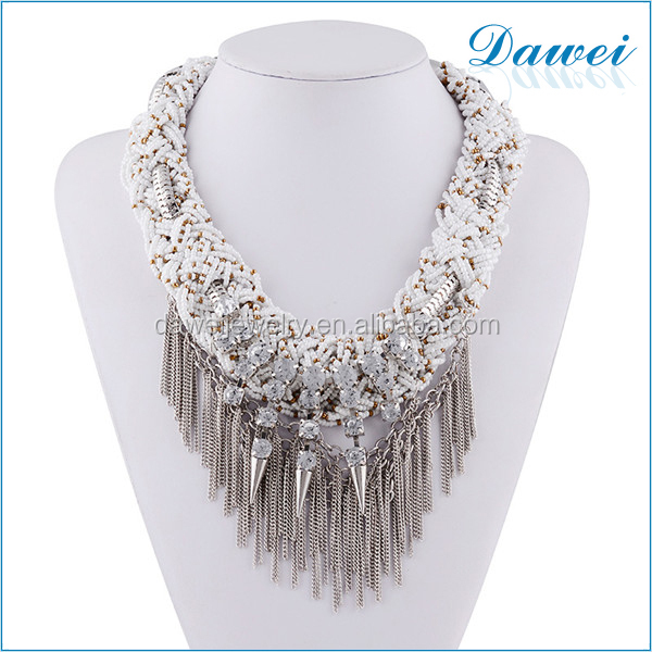 handmade vintage big beaded tassel women accessories jewelry wholesale for uk