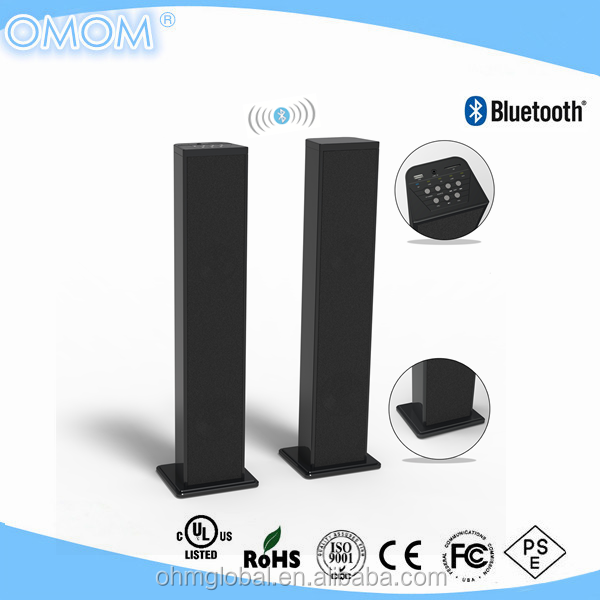 Wireless stereo tower speaker with USB/SD OHM-SB06