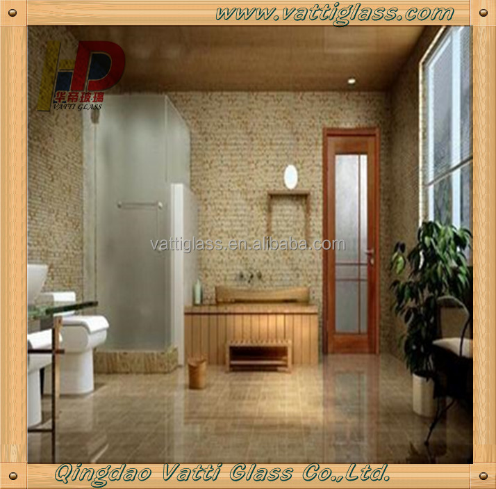 Tempered Frosted Glass Bathroom Glass Wall Panel