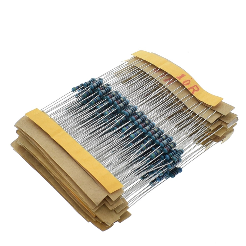 1 Pack 300pcs m <strong>10</strong>-1M Ohm 1/4 <strong>W</strong> resistance 1% metal film strength assortment set of 30 kinds every 10pcs