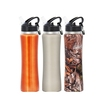 2015 hot products single wall stainless steel sports bottle stainless steel sports water bottle carrier with straw