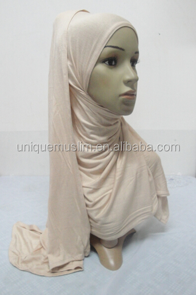 JL075 fashion instant plain jersey scarf