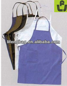fashional and recycle promotional plain white aprons cotton