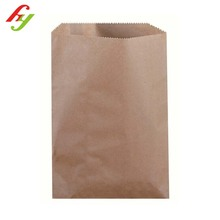 Chinese manufacturer biodegradable custom food flat bottom kraft paper bag with printing gold logo