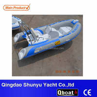 CE wholesale fiberglass hull Q boat china luxury yacht with step end