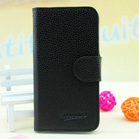 (In stock) Flip leaher case For alcatel one touch idol x ot 6040d case