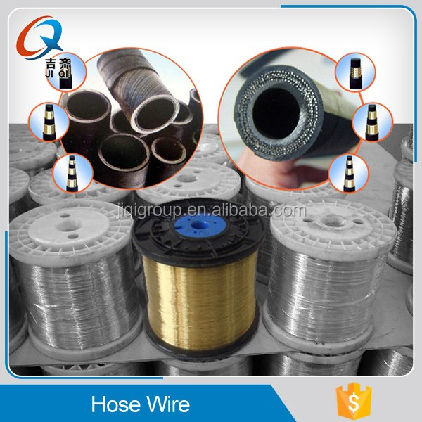 stainless steel wire braided reinforced hydraulic rubber hose/hydraulic hose