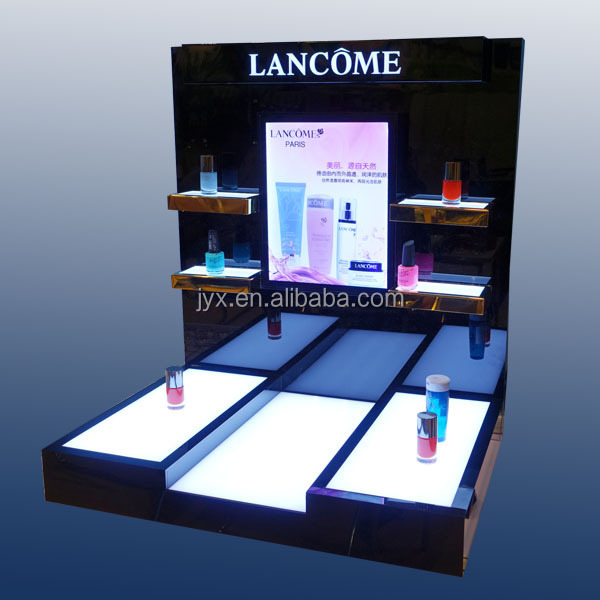 Rich noble and elegant custom acrylic display, acrylic cosmetic display for countertop