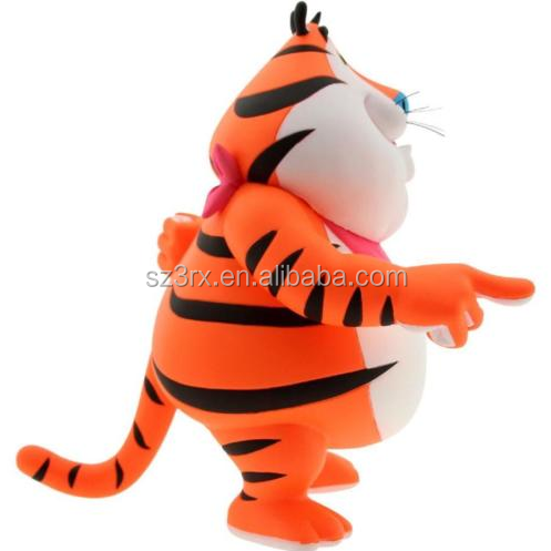 Design your own aniaml vinyl toys/Plastic tiger shaped toys figures/OEM soft animal vinyl toys figure manufacturers