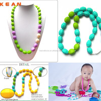 2014 Fashion Jewelry/ China Wholesale Kean Silicone Fashion Teething Necklace for Baby Teething