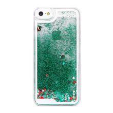 Dynamic Liquid Glitter Sand Hourglass Quicksand Case For Iphone 5s Crystal Clear Cell Phone Back Cover For Iphone 5 5s