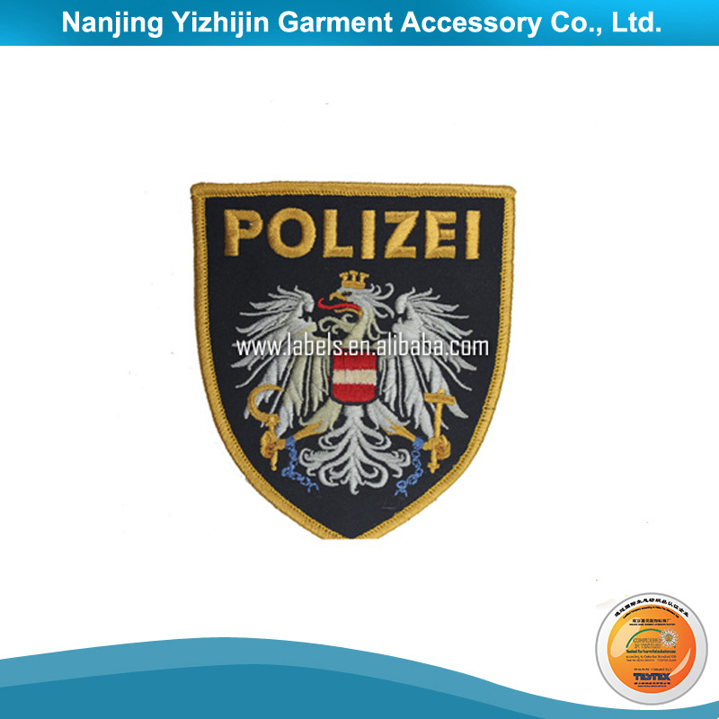 High quality cheap custom machine embroidery badge design