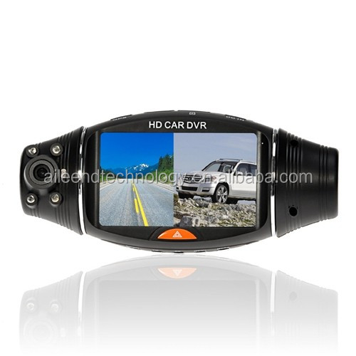 2.7 inch IR Night Vision G-sensor GPS Dual Camera Car DVR