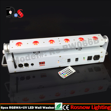 led dmx wedding bar rgbwa+uv 6in1 battery wall washer for DJ show