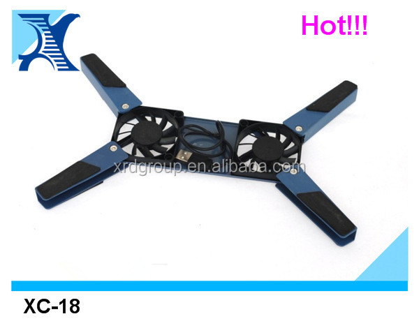 Dual Fan Laptop Notebook Cooling Cooler Stand Pad USB with Blue LED