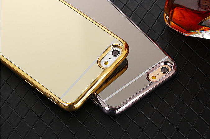 2016 New Arrival TPU+Electroplate mirror mobile phone case for samsung galaxy j1 mini case